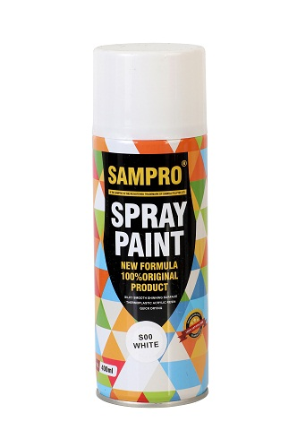 white spray paint