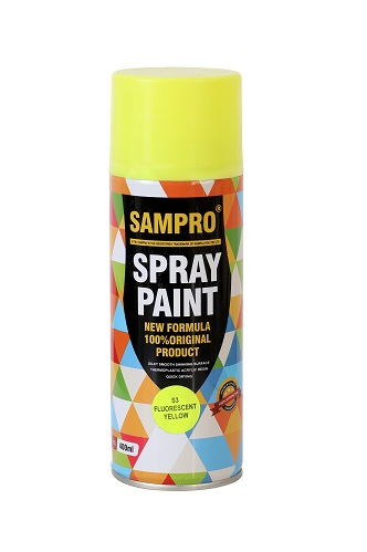 yellow spray paint