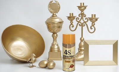 metallic spray paint gold