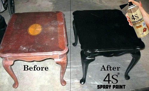 4s spray painting before n after